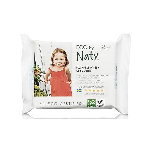 Eco by Naty Ökologische Feuchttücher - für Toilettentraining (empfindliche Haut)