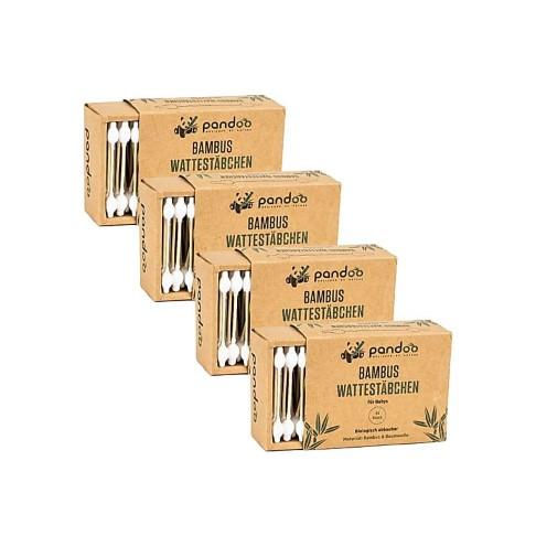 Pandoo Bambus Wattestäbchen für Babys (4x55)