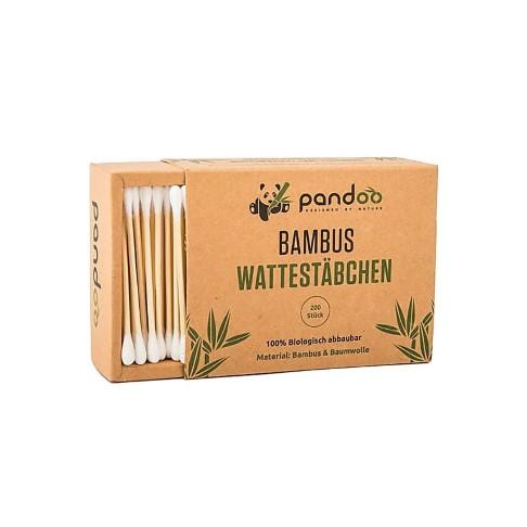 Pandoo Bambus Wattestäbchen - 100 % biologisch abbaubar