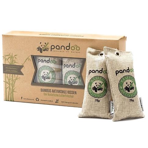 Pandoo Lufterfrischer aus Bambus Aktivkohle 4x75g