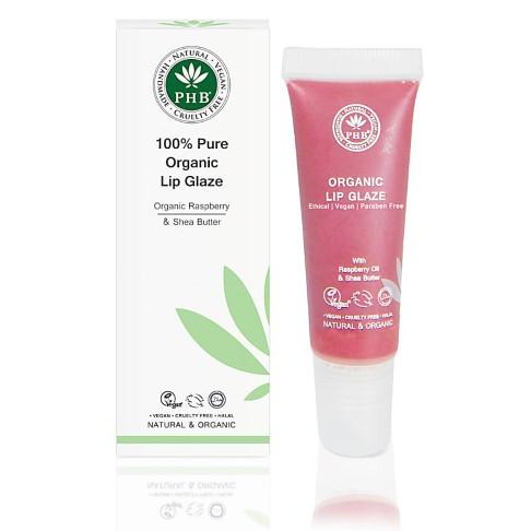 PHB Ethical Beauty 100% Pure Organic Lip Glaze: Raspberry - Himbeere Lipgloss