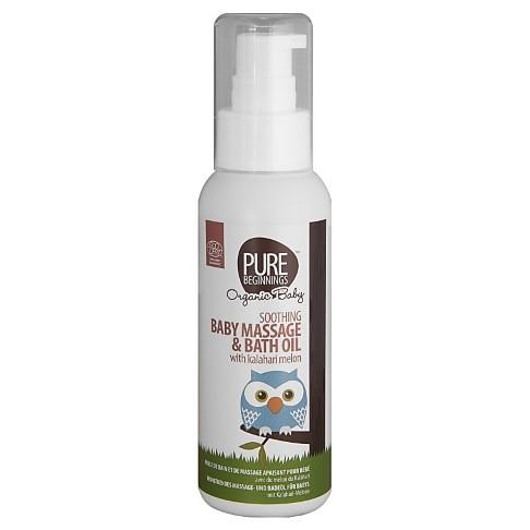 Pure Beginnings Soothing Baby Massage and Bath Oil with Kalahari Melon - Massageöl