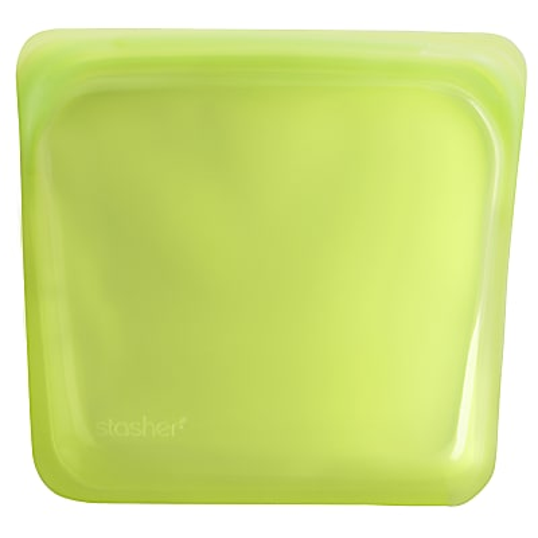 Stasher Bag Lime 18 x 19 cm - Wiederverwendbare Beutel