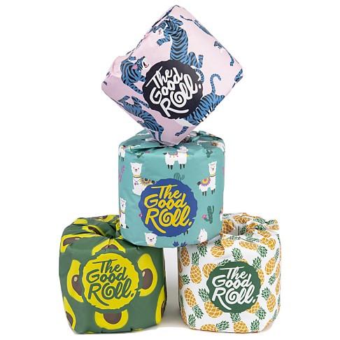 The Good Roll Plastikfreies Toilettenpapier x 4 Rollen