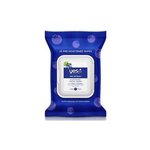 Yes To Blueberries Brightening Facial Towelettes - Reinigungstücher