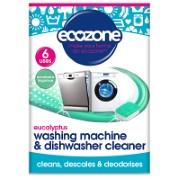 Ecozone Eucalyptus Waschmaschinen- & Spülmaschinen-Reiniger (6 Tabs)