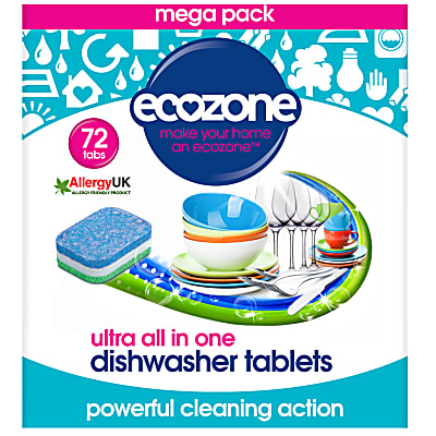 Ecozone ultra all in one Spülmaschinentabs - 72 Tabs